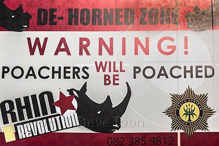 ACPP43  Sign to deter poachers