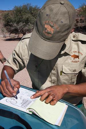 Rhino tracker records sighting