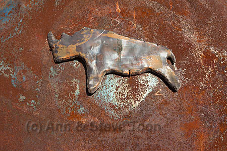 ACPS02 Metal logo for Save the Rhino Trust, Namibia
