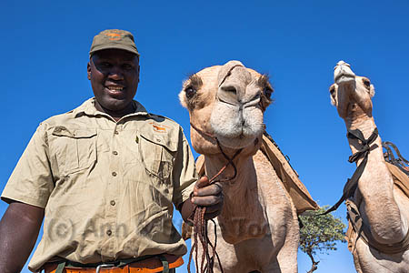 ACPS12  Hans Ganaseb of Save the Rhino Trust camel patrol team