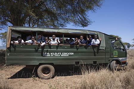 Schoolchildren in Lewa Conservancy, Kenya, on World Rhino Day 2012
