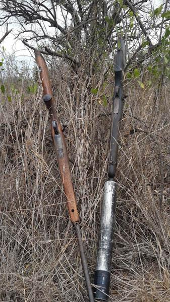 Poachers' weapons